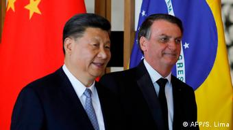 Brasilien BRICS-Treffen Xi Jinping, Jair Bolsonaro (AFP/S. Lima)
