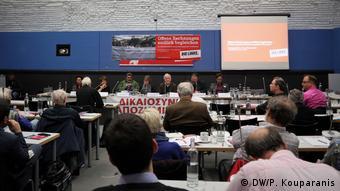 Η συζήτηση στην αίθουσα συνεδριάσεων του κόμματος Η Αριστερά στο Ράιχσταγκ