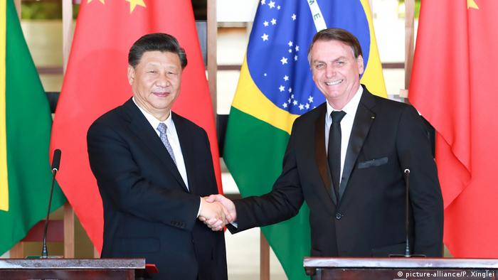 Xi Jinping und Jair Bolsonaro in Brasilia