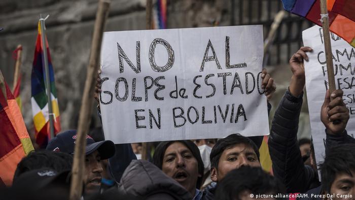 Protestas contra un golpe de Estado en Bolivia. (12.11.2019).