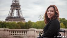 Hong Seo yoon Südkorea im Rollstuhl durch Europa