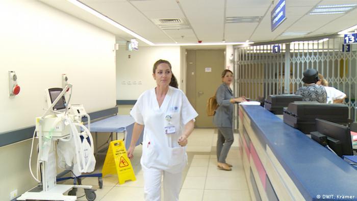 Lotem Ovadya in the underground shelter at Barzilai Medical Center in Ashkelon