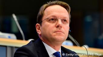 Belgien l Europaparlament befragt Ersatzkandidaten für von der Leyens EU-Kommission - Oliver Varhelyi (Getty Images/AFP/J. Thys)