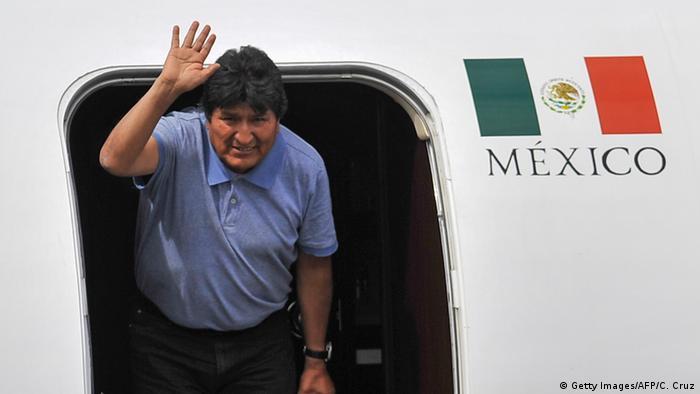 Mexiko Evo Morales landet in Mexico City