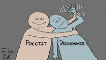 Karikatur Sergey Elkin Wirtschaft in Russland