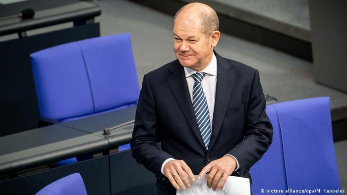 German Finance Minister Olaf Scholz (picture alliance/dpa/M. Kappeler)