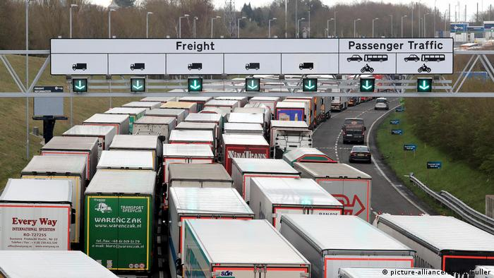 BG Eurotunnel | Stau in Folkestone