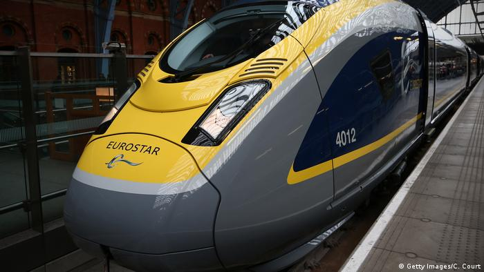 Eurostar's e320 train pictured at St Pancras Station in London