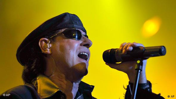German hard rock group The Scorpions with singer Klaus Meine perform on stage at the Avo Session in Basel, Switzerland, Friday Oct. 23, 2006. (AP Photo/Keystone, Georgios Kefalas)