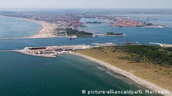 Italien Hochwasserschutz l M.O.S.E. Projekt in Venedig