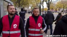 DW Reportage NPD nahe Bürgerwehr Schaft Schutzzonen in Berlin