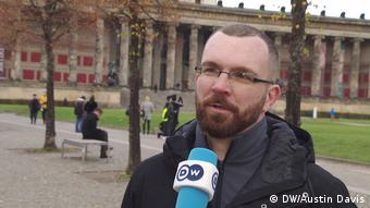 Oliver Niedrich of the Establish Security Zones citizen militia in Berlin (DW/Austin Davis)