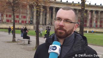Oliver Niedrich of the Establish Security Zones citizen militia in Berlin (DW/Austin Davis)