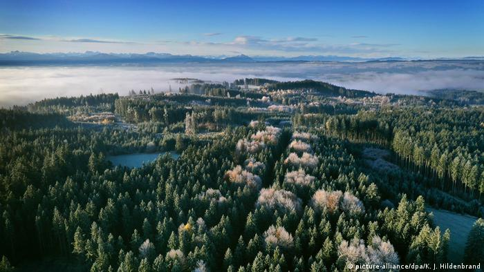 El estado favorito: Baviera, una vista aérea.
