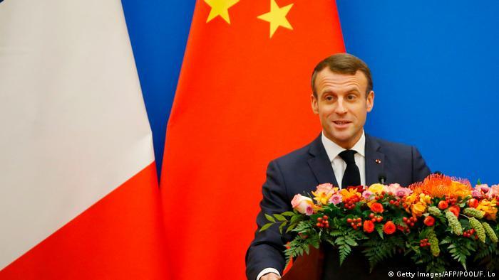 French President Emmanuel Macron in Beijing