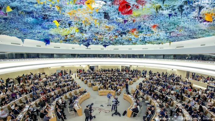 Schweiz l UN Human Rights Council - Menschenrechtsrat (picture alliance/AP Photo/M. Giradin)