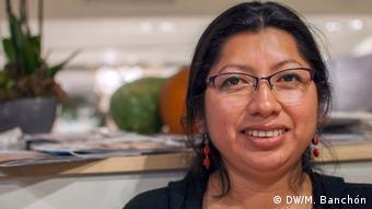 Thelma Pérez, Vertreterin der Maya Ch'orti (DW/M. Banchón)