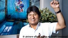 November 14, 2019: EUM20191114NAC07.JPG.CIUDAD DE MÉXICO, Presidency/Presidencia-Evo Morales.- 14 noviembre 2019. El depuesto presidente de Bolivia, Evo Morales, asegura en entrevista con EL UNIVERSAL que está listo para regresar a su país si la Asamblea Legislativa no acepta la renuncia que presentó el pasado domingo. Dice que se siente capaz de pacificar el país y de garantizar que se hagan nuevas elecciones en las que él está dispuesto a no ser candidato. Foto: Agencia EL UNIVERSAL/Germán Espinosa/AFBV (Credit Image: © El Universal via ZUMA Wire |