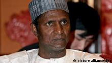 (FILE) A file picture dated 28 February 2008 shows Nigerian President Umaru Yar'Adua in Beijing, China. According to reports on 11 January 2010, the Nigerian parliament was set to discuss on 12 January the ability of President Umaru Yar'Adua to preside over Africa's most populous nation amid reports he is seriously ill. EPA/MICHAEL REYNOLDS +++(c) dpa - Bildfunk+++