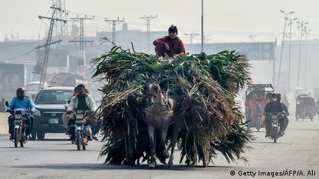 BdTD Pakistan Lahore | Transport im Smog (Getty Images/AFP/A. Ali)
