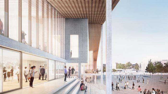 Esboço do Museum der Moderne, que deverá ser inaugurado em 2026 em Berlim