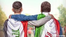 Iran Poster zum Fussballspiel Iran - Irak