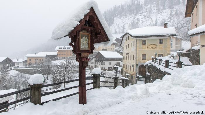 A view of the snow in the Austrian state of Carinthia (picture-alliance/EXPA/APA/picturedesk)