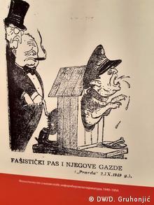 Karikatura iz Pravde od 2. septembra 1949. godine