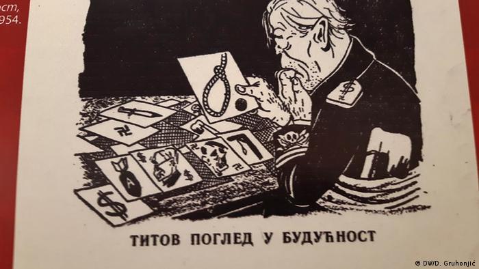 Titov pogled u budućnost, opis je ove karikature.