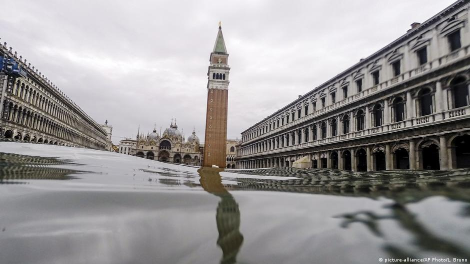 Cierran la plaza de San Marcos de Venecia por una nueva inundación - DW (Español)