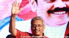 Sri Lanka Wahl 2019 | Gotabaya Rajapaksa, Kandidat SLPP (picture-alliance/Zuma Press/P. Dambarage)
