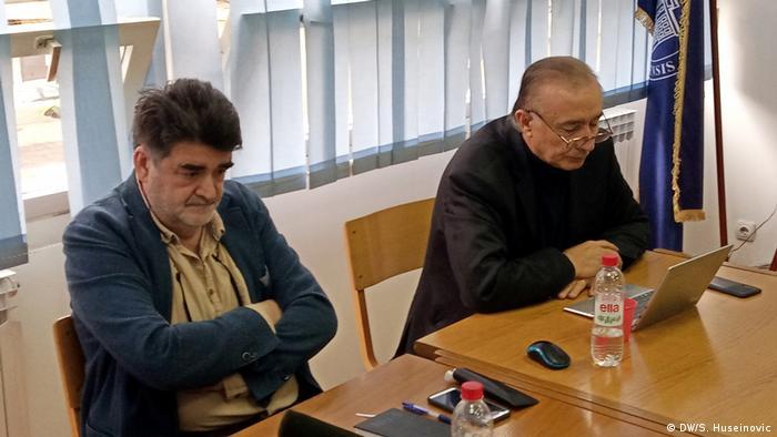 Neruzin Ćurak i Slavo Kukuć na okruglom stolu o utjecaju Srbije i Hrvatske na BiH održanom u Sarajevu