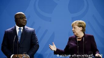 Deutschland Berlin Angela Merkel Empfang Felix Antoine Tshisekedi Tshilombo
