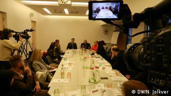 На пресс-конференции Михаила Ходорковского в Берлине, 15 ноября 2019 года