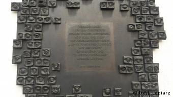 Placă în amintirea victimelor lui Josef Mengele