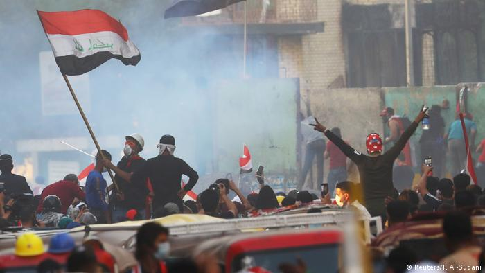 Irag Proteste und Ausschreitungen in Bagdad
