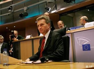 Guenther Oettinger at his confirmation hearing