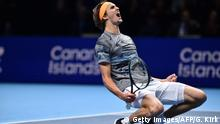 Tennis ATP Finals Alexander Zverev jubelt (Getty Images/AFP/G. Kirk)