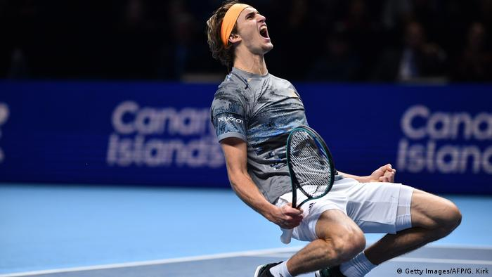Tennis ATP Finals Alexander Zverev jubelt