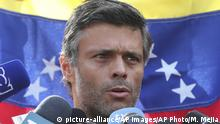 Venezuela Leopoldo Lopez (picture-alliance/AP Images/AP Photo/M. Mejia)