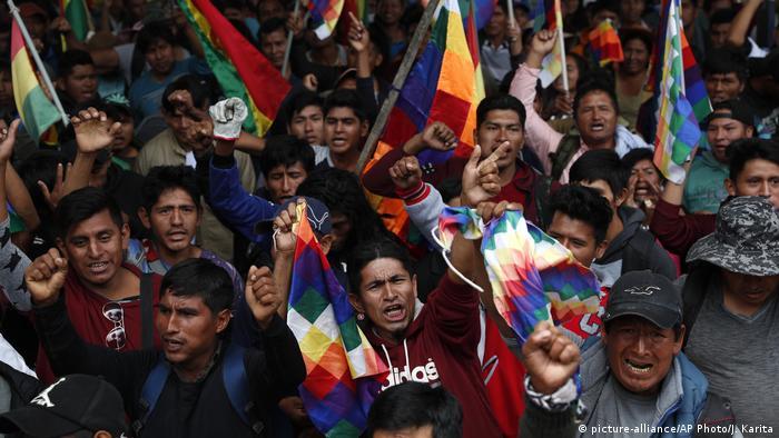 Bolivien Protest in Cochabamba