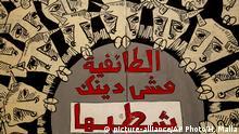 Libanon Proteste Graffitis