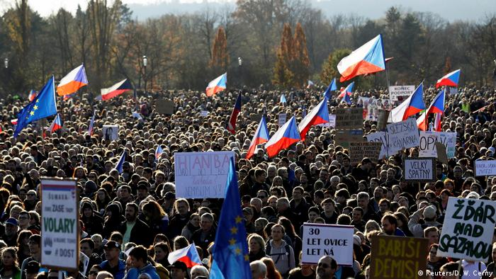 Anti-government protest in Prague