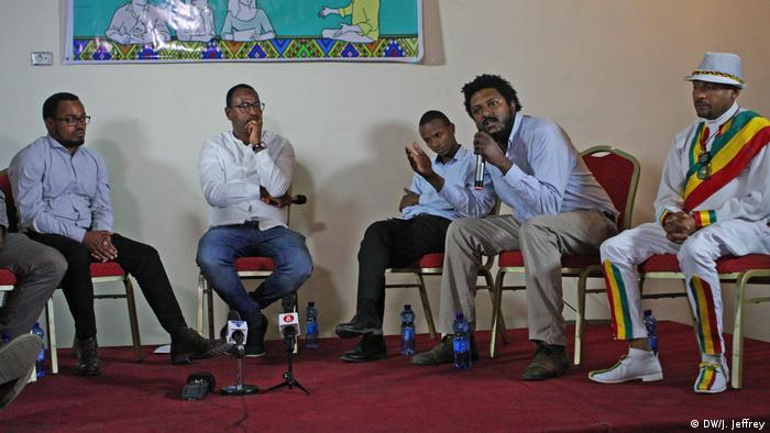 Journalists discuss press freedom during a panel discussion