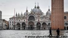High water in Venice on Saturday (picture-alliance/ZUMAPRESS/C. Furlan)