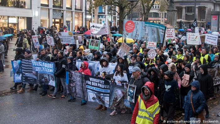 Protesters in Hamburg (picture-alliance/dpa/D. Bockwoldt)