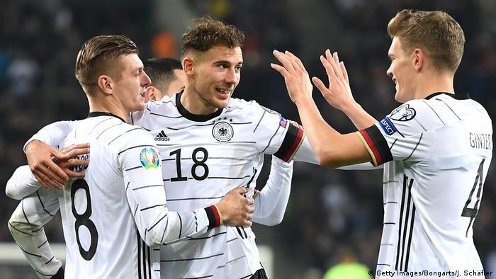 Fussball UEFA EM 2020 Qualifikation l Deutschland vs Weißrussland l Tor 2:0 Leon Goretzka