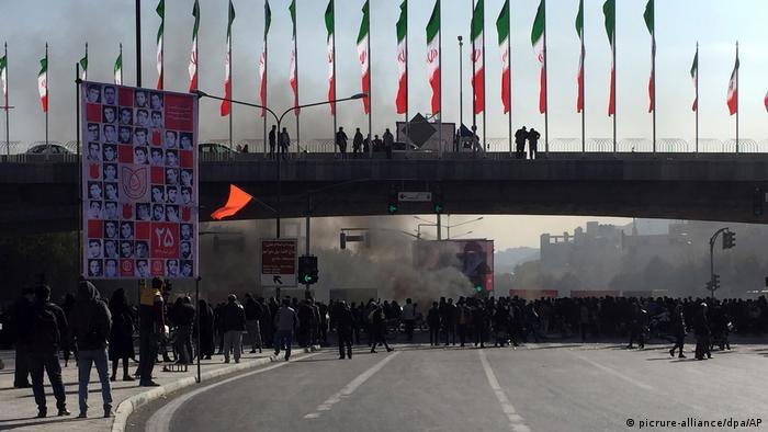 Протест проти підвищення цін на бензин 18 листопада в місті Ісфахан