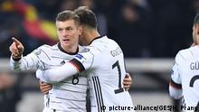 Fussball UEFA EM 2020 Qualifikation l Deutschland vs Weißrussland l 3:0 Jubel Toni Kroos