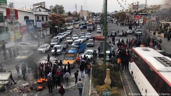 Під час протесту 16 листопада в Тегерані